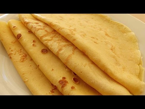 Basic French Crepes Recipe - Crepe Batter just in a minute