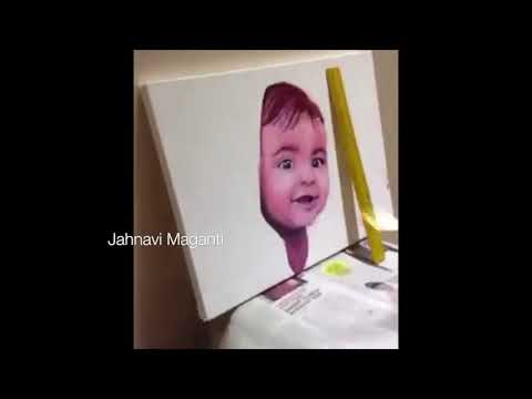 BABY FACE- How to use Oil Paints - Timelapse of entire process of painting a Portrait || ART