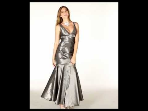 Stunning Silver Gown Formal Dress Shops Youtube