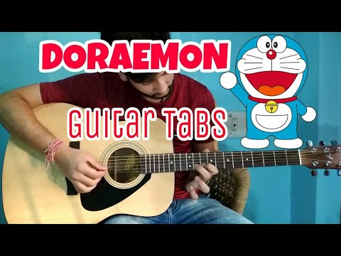 DORAEMON- Easiest!! Guitar Tabs Lesson | Just 2 Strings |Guitar Lesson For Beginners in Hindi