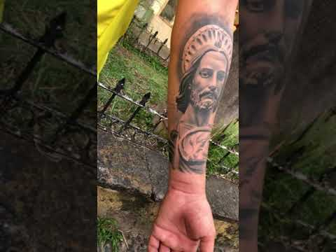 San Judas Tadeo Tatuaje Por At Jhonathantattoo Youtube