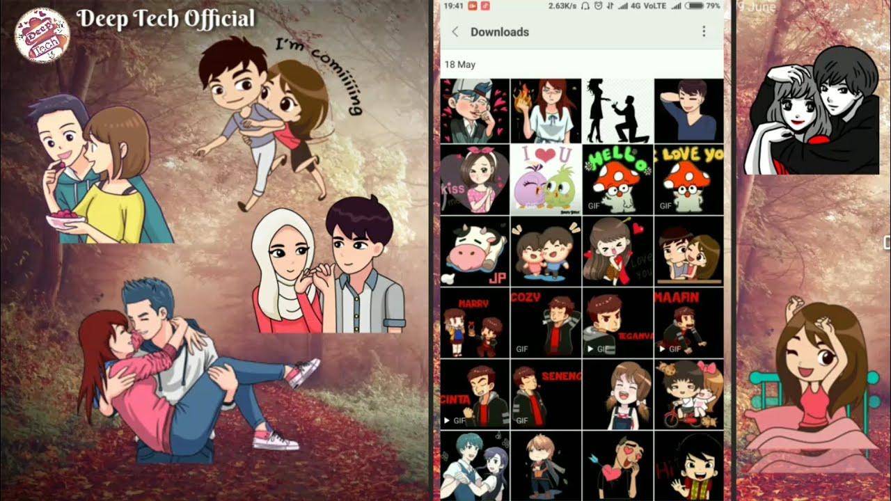 Status Love Stickers Kaise Dounload Karein Whatsapp Stickers Ek Baar Me All Stickers Dounload Karein Youtube