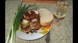 Картофель с салом и луком в духовке🥔🥔🥔.