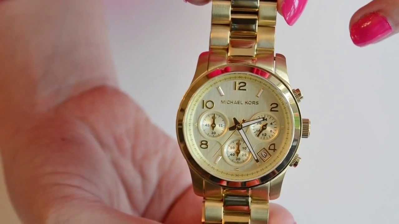 Eves Watch Michael Kors Chronograph Runway Watch Review Youtube