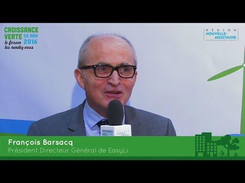 """François Barsacq : """"Les batteries Lithium permetttent de gérer les énergies renouvelables"""""""