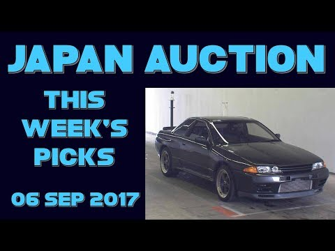 Japan Weekly Auto Auction Picks 036 - 06 Sep 17