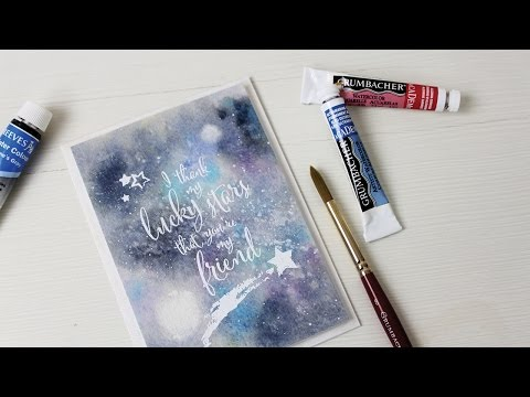 Lucky Stars Watercolor Galaxy