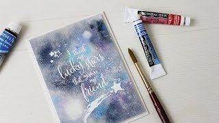 Lucky Stars Watercolor Galaxy