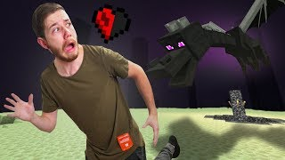 Fighting The Ender Dragon ON HARDCORE!   Minecraft