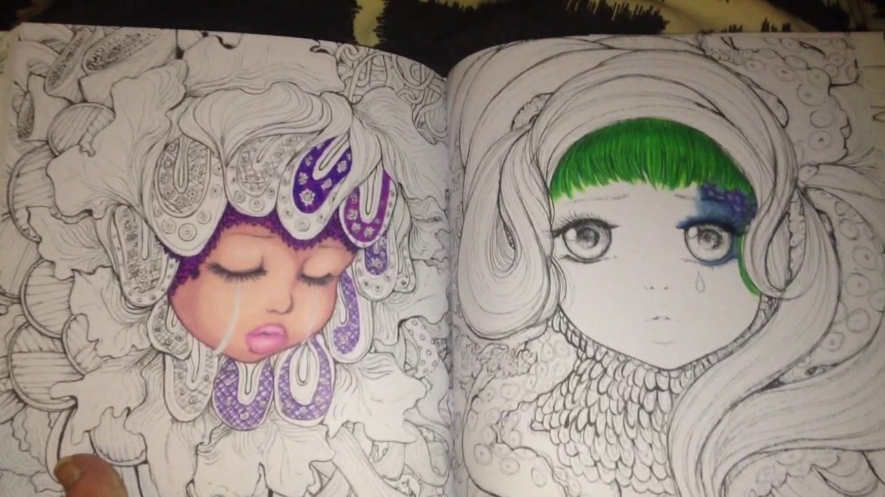 Pop Manga Coloring Book Pages