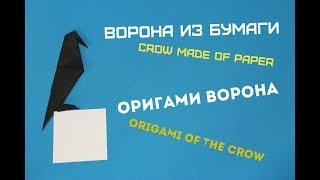 Ворона из бумаги. A crow out of paper