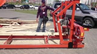 Пилорама Wood-Mizer LT 15 в работе