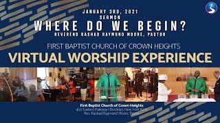 January 3rd, 2021: Virtual Worship Service Communion Sunday