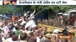 AAP Sex Scandal: Protest Outside Kejriwal Residence and Sandeep Office in Delhi