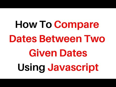 How To Compare Two Dates Using JavaScript Code Snippet