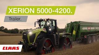 CLAAS XERION 5000-4200. Trailer.
