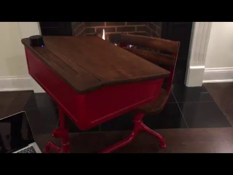 Vintage American Seating Company School Desk - Vintage American Seating Company School Desk - YouTube
