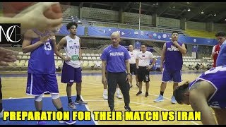 Team Pilipinas first practice in Tehran preparation for their match vs Iran