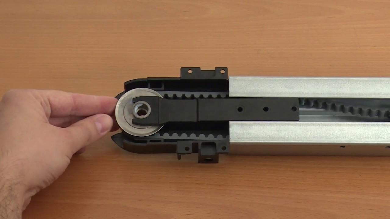 Comment assembler le rail d un gdk 700 youtube Moteur somfy porte sectionnelle