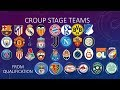 2018-2019 UEFA CHAMPIONS LEAGUE ALL TEAMS | All stages