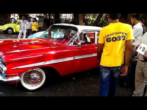 Vintage Car Gathering Mumbai - Ferrari 308 & Chevrolet Impala (1959)
