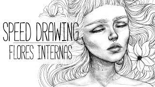 FLORES INTERNAS | Sketch de Grafito Speed Drawing