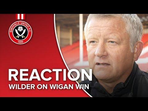Chris Wilder's Wigan reaction