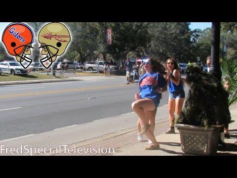 BUSHMAN PRANK AT FLORIDA STATE  SEMINOLES VS UNIVERSITY OF FLORIDA GATORS