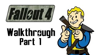 FALLOUT 4 Walkthrough Part 1 - Leaving Vault 111 (Let's Play Commentary) Xbox One
