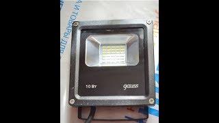 Обзор на светодиодный прожектор Gauss LED 10W COB IP65 6500К