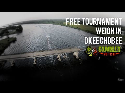 Gambler Free Bass Tournament 2015 Lake Okeechobee Weigh In