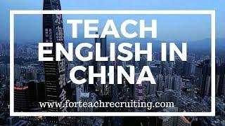 Teach English in China   For Teach Recruiting