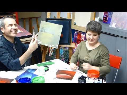 cours peinture acrylique 6 tuto comment r aliser un fond l 39 acrylique youtube. Black Bedroom Furniture Sets. Home Design Ideas