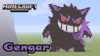 Minecraft: Pixel Art Tutorial and Showcase: Gengar (Pokemon)