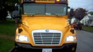 Bluebird Vision Bus 68 Start up and warning lights