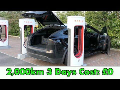 I Spent £0 On Fuel Driving 2,000KM On A Roadtrip Across Europe In A Tesla