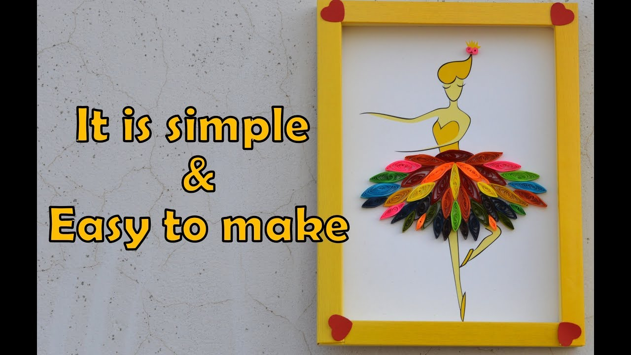 Make a doll with Quilling paper | Make easy | with template - YouTube