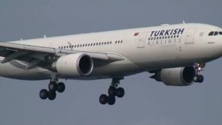 Turkish Airlines Airbus A330-200 Landing at Osaka