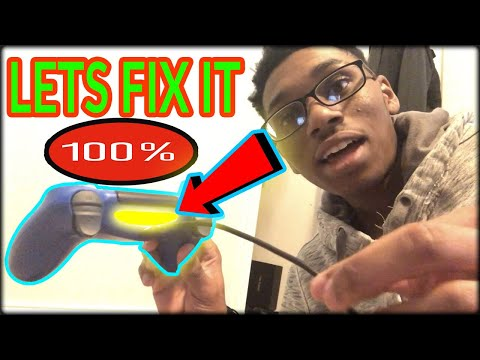 How To Fix PS4 Controller With Yellow Light Flashing When Plugged In (2019)