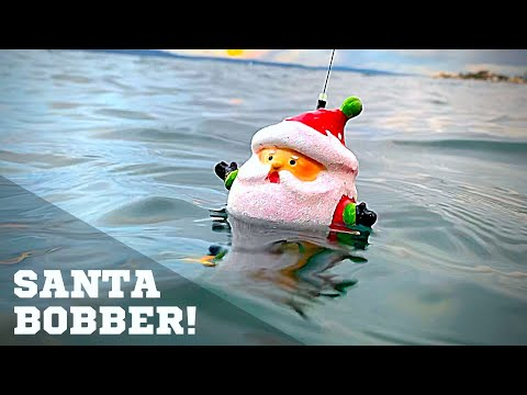Santa ORNAMENT BOBBER! Build To Catch!!!