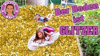 DER BODEN IST GLITZER ! 🌟🔥und nicht LAVA -Der neue Trend? - the floor is glitter | MILEYS WELT