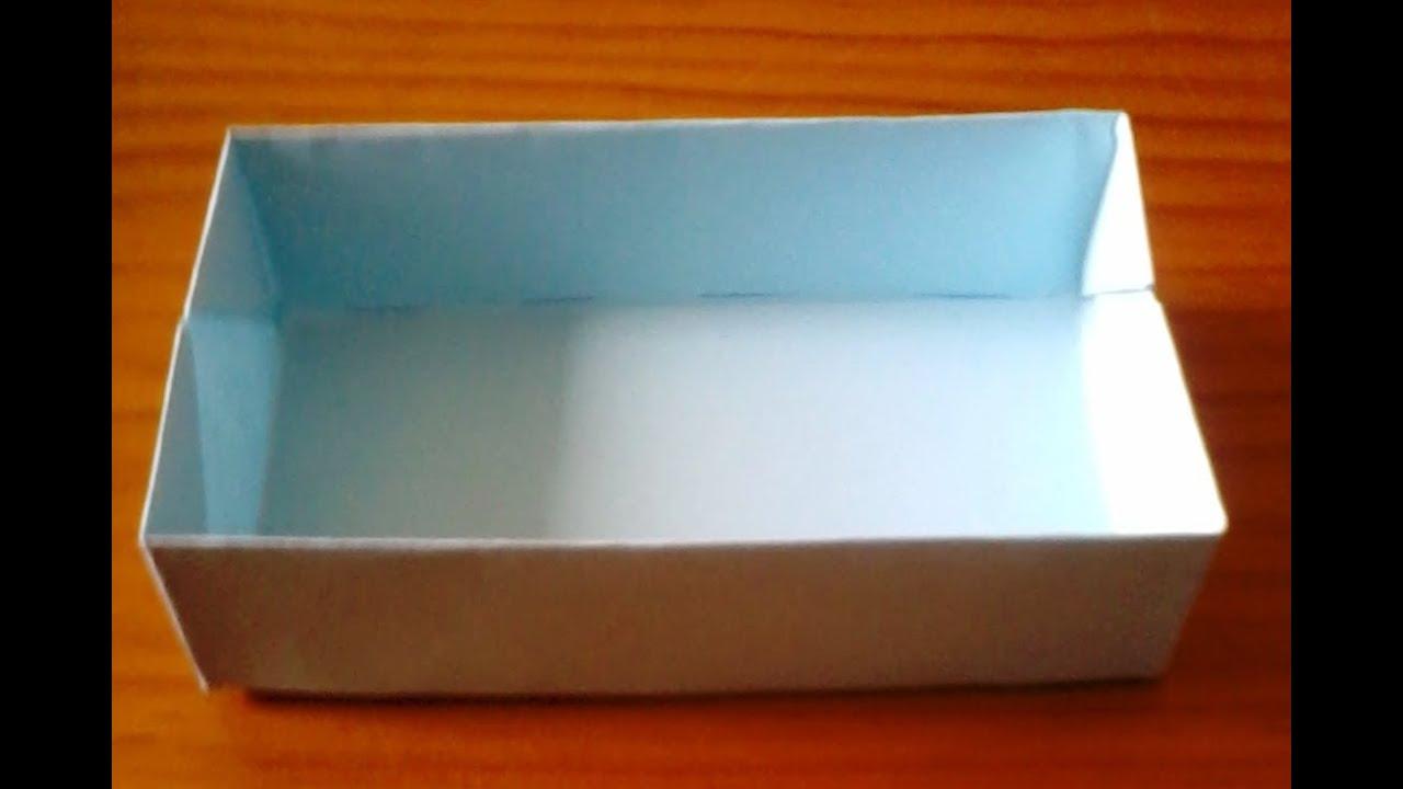 Tutorial como hacer una caja rectangular sin pegamento - Como hacer cajitas de cartulina ...