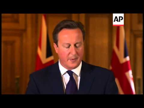 UK Prime Minister David Cameron said after an emergency meeting of his military and security chiefs
