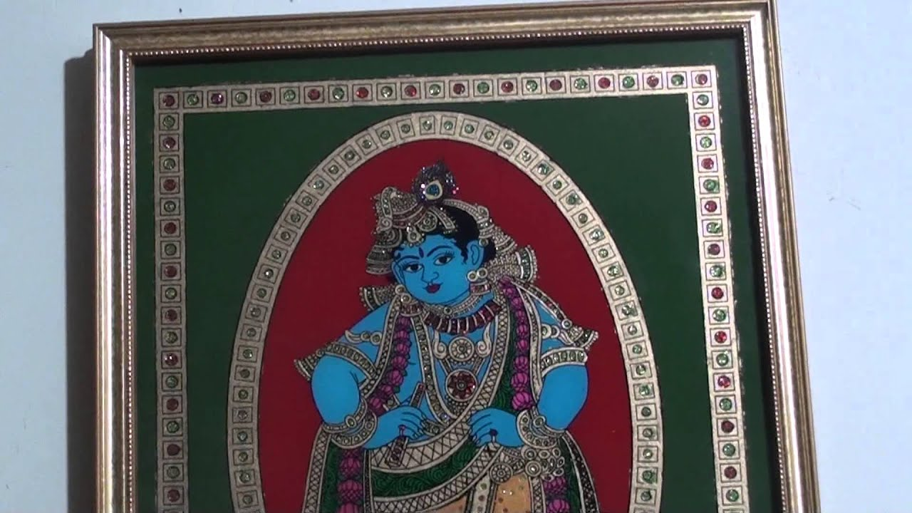TANJORE PAINTING REVERSE GLASS STYLE