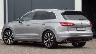 Volkswagen NEW Touareg R-Line 2018 Antimonial silver 21 inch Suzuka walk around & detail inside