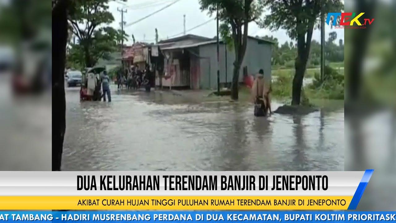 Akibat Curah Hujan Tinggi Puluhan Rumah Terendam Banjir di Jeneponto
