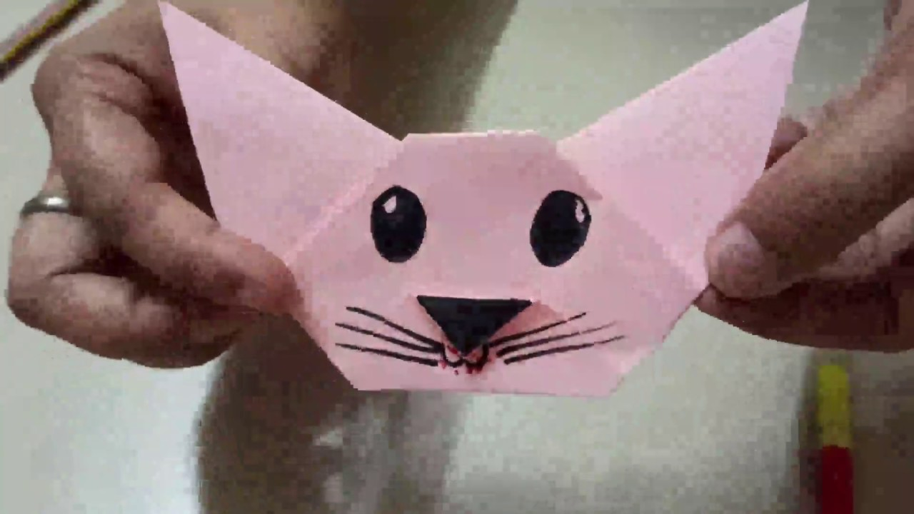 How to Make an Easy Origami Cat Face | 720x1280