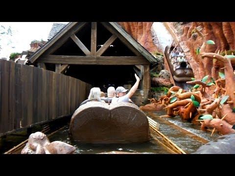 Splash Mountain, Magic Kingdom, Walt Disney World Orland, Front Seat POV 2014
