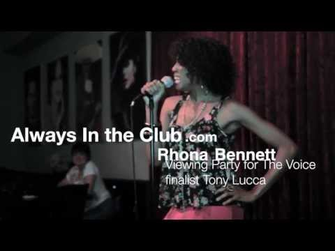 "Rhona Bennett Performs at ""The Voice"" Finals Viewing Party for Tony Lucca"