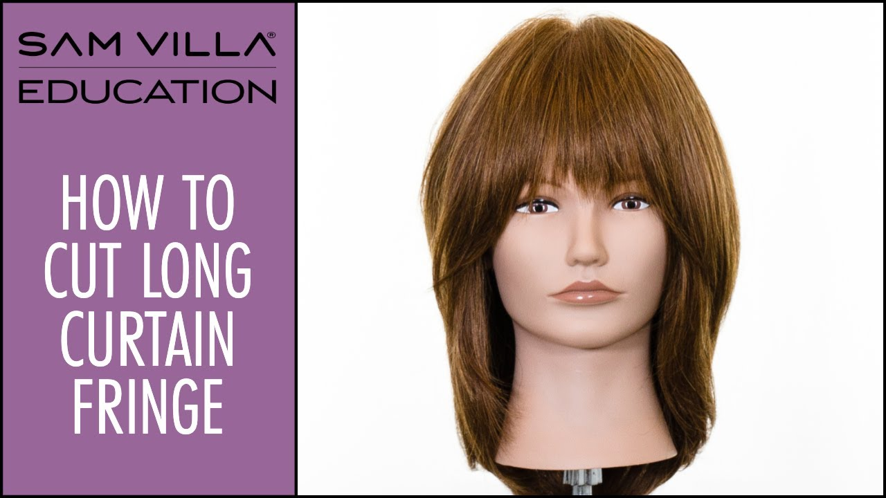 how to cut long curtain bangs / curtain fringe tutorial